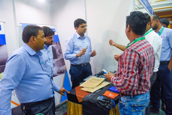 Saurya Team interacting with others at Industrial Safety Summit, Pune front view
