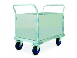 Four wheel Carts with walls