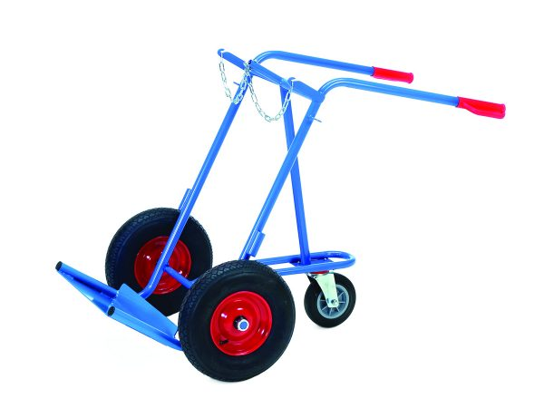 Steel hand truck for gas cylinder