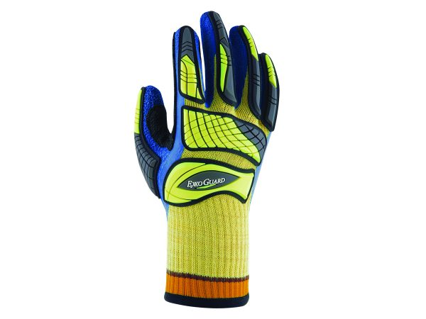 ExxoGuard Gloves yellow, blac, blue colour