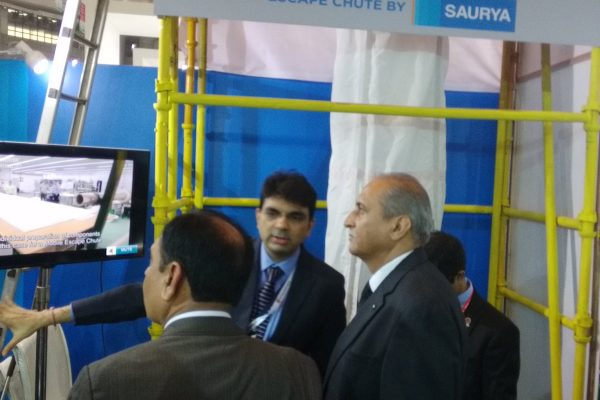 PetroTech 2016, New Delhi showcasing Escape Chute