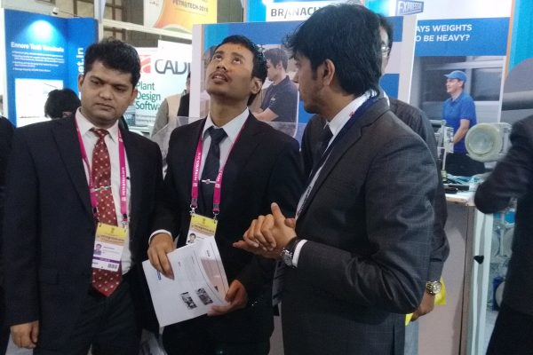 PetroTech 2016, New Delhi showcasing products