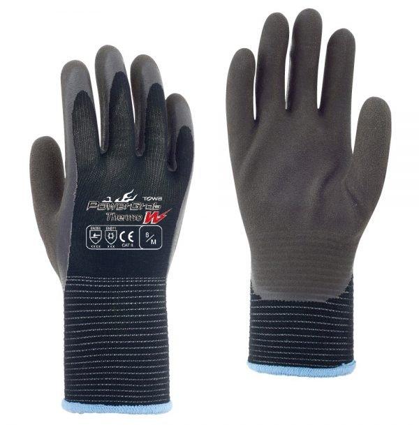 PowerGrab Thermo W Black Grey Gloves