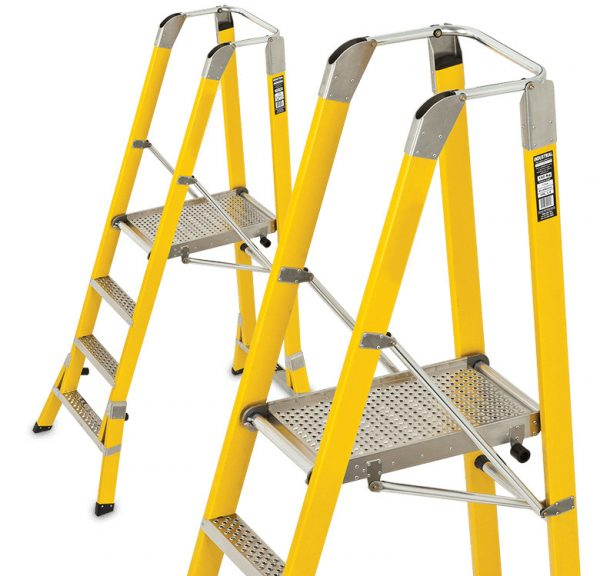 Fibreglass Safety Step Platform Ladders