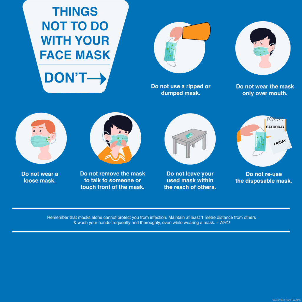 How to wear a face mask safely