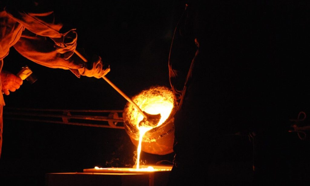molting process in metal industry