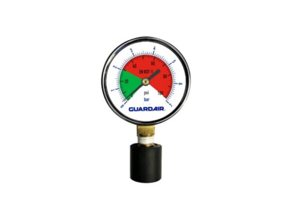 Pressure Gauge With Rubber Tip 0-100 PSI - Part Number: 100M05A