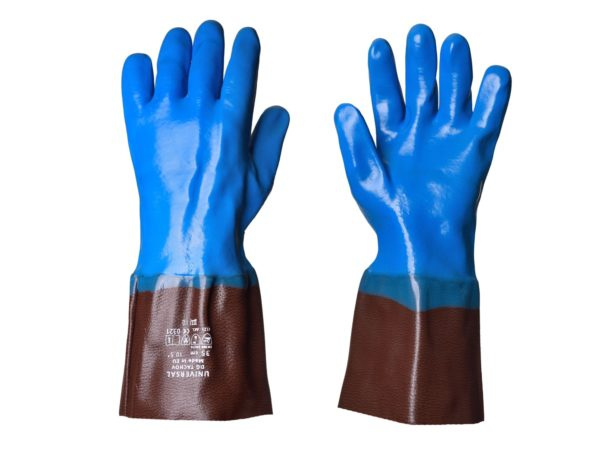 Chemical resistant universal anti-slip cuffed Gloves