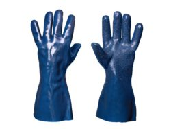 Chemical resistant universal future anti-slip jersey liner gloves
