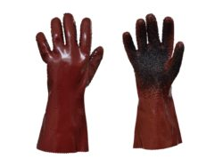 Chemical resistant universal roughened gloves