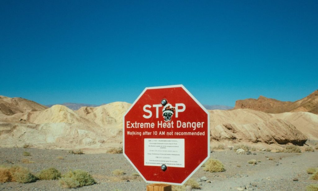 Stop board for avoiding extreme heat stress