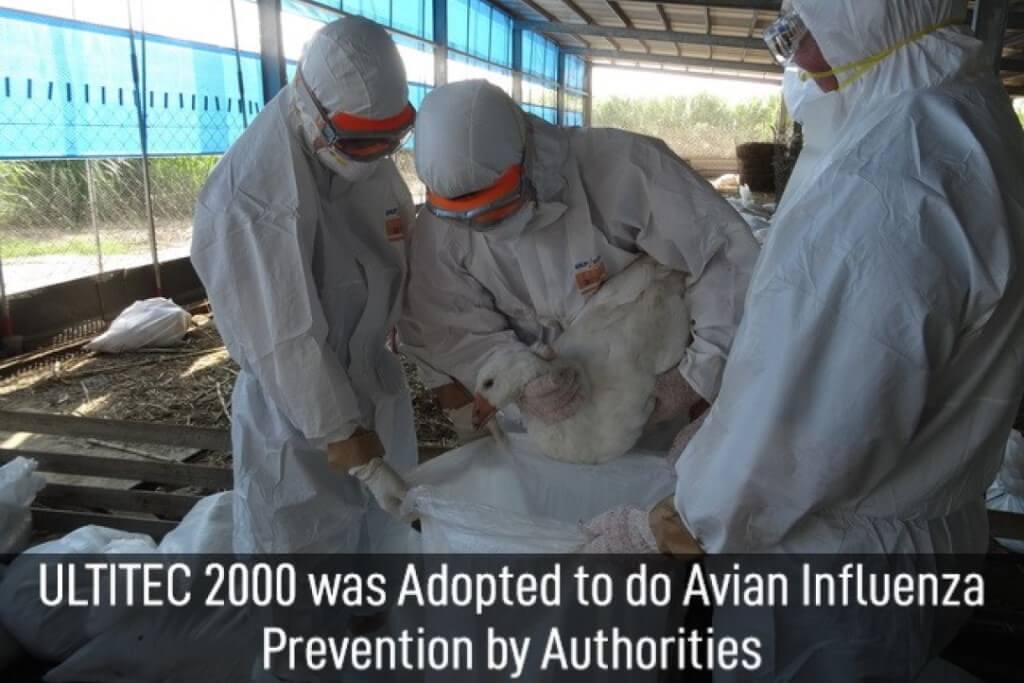 Avian influenza prevention operation by Ultitec