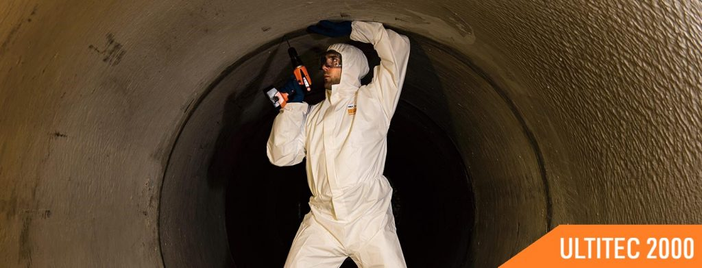 ultitec chemical protective coveralls 2000 application