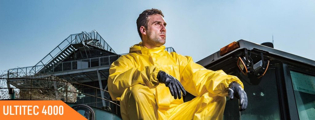 ultitec chemical protective coveralls 4000 application